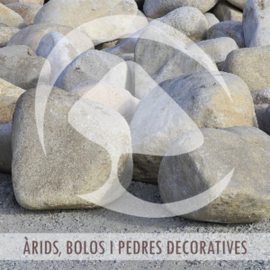 Árids, bolos i pedres decoratives